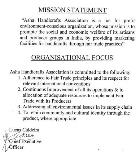 Asha Handicrafts Amnesty International Uk Shop Fair Trade