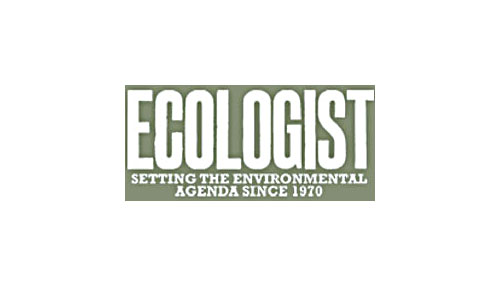 Ecologist logo in the ethical shop