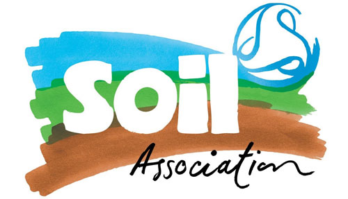 Soil Association logo in the ethical shop