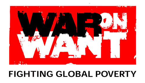 War on Want logo in the ethical shop