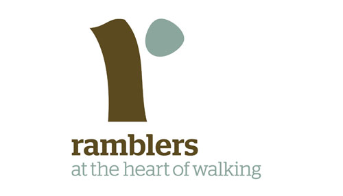 Ramblers logo in the ethical shop