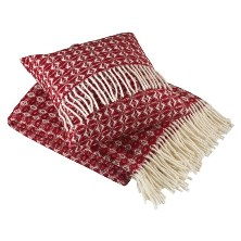 Made in the UK throw and cushion