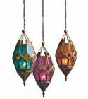 Moroccan Style Hanging Glass Lantern